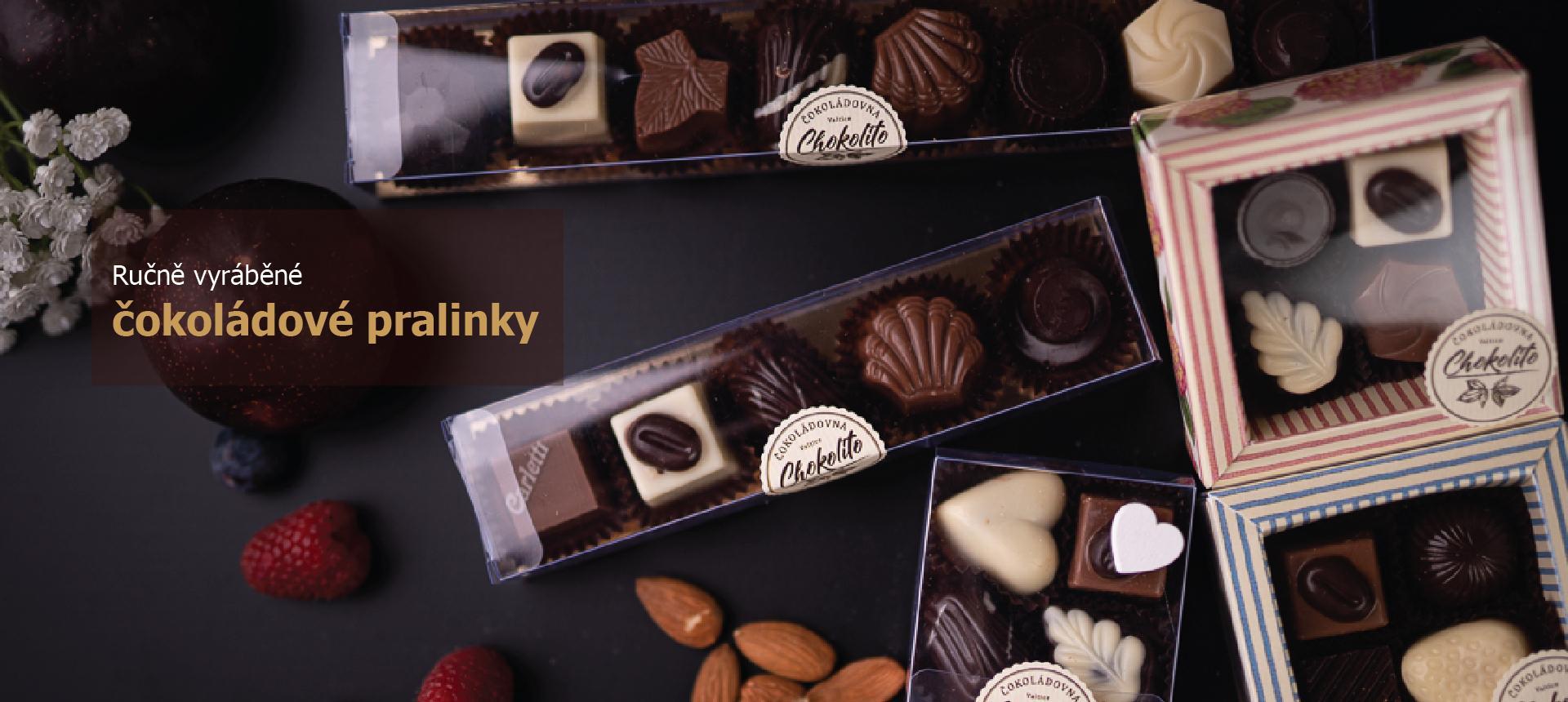 Ručně vyráběné čokoládové pralinky