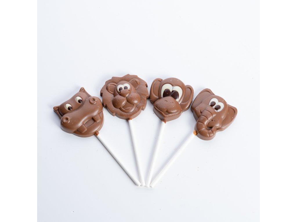 Sada čokoládových lízatek