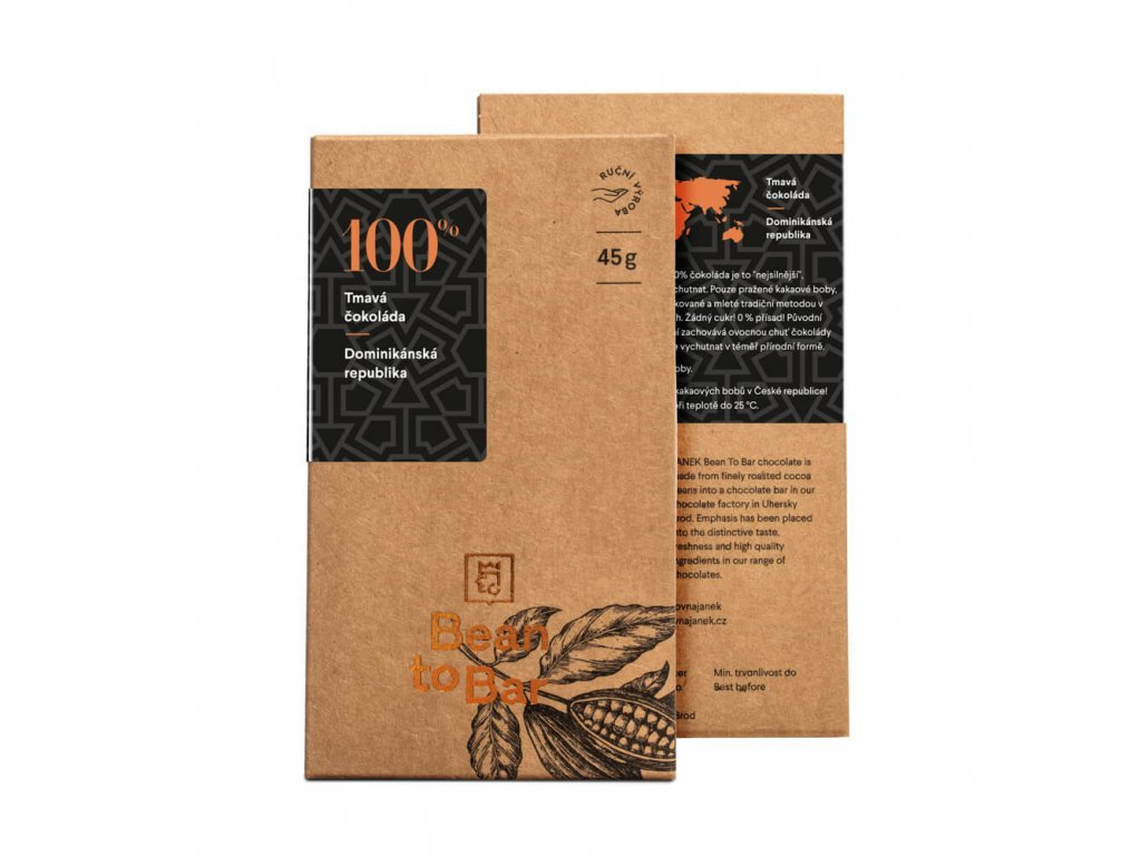 443 tabulka horke cokolady bean to bar 100 procent dominikanska republika cokoladovna janek jpg