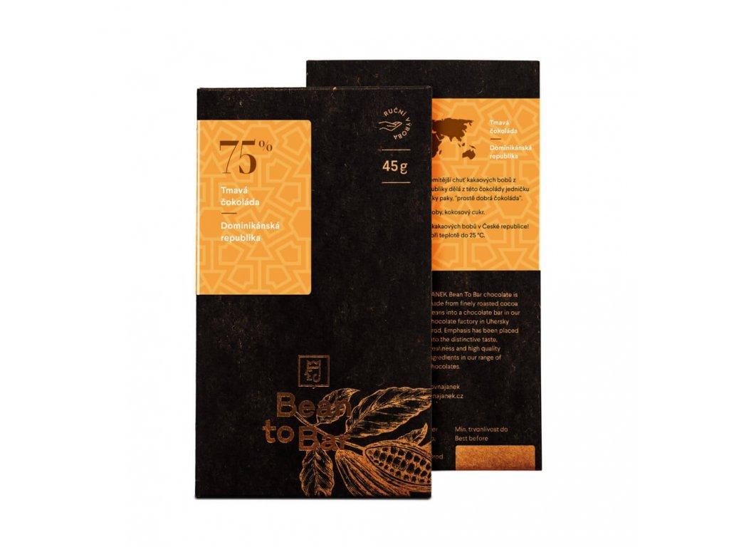 440 tabulka horke cokolady bean to bar 75 procent dominikanska republika cokoladovna janek jpg