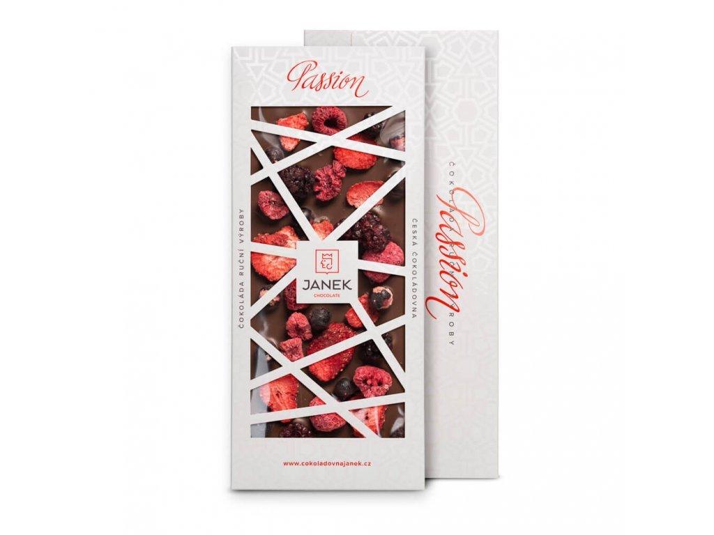510 tabulka mlecne cokolady passion s ovocem cokoladovna janek