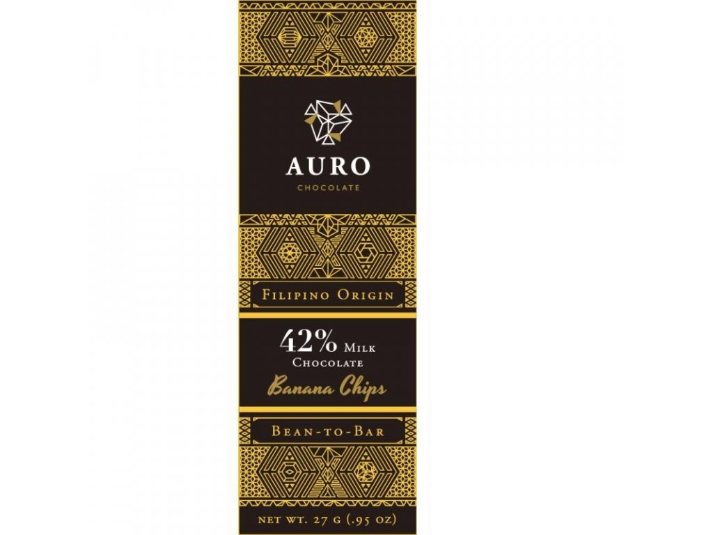 Auro Banana chips milk chocolate 42 27 gr front 800x800