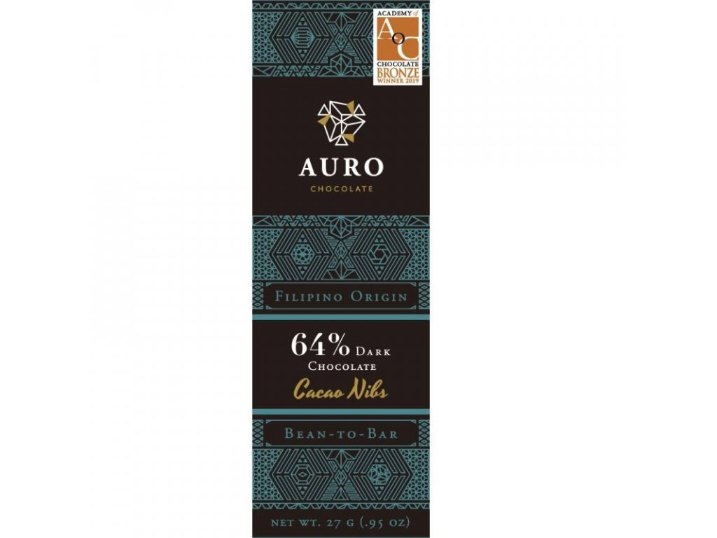 Auro Cacao nibs dark 64 27 gr front 800x800