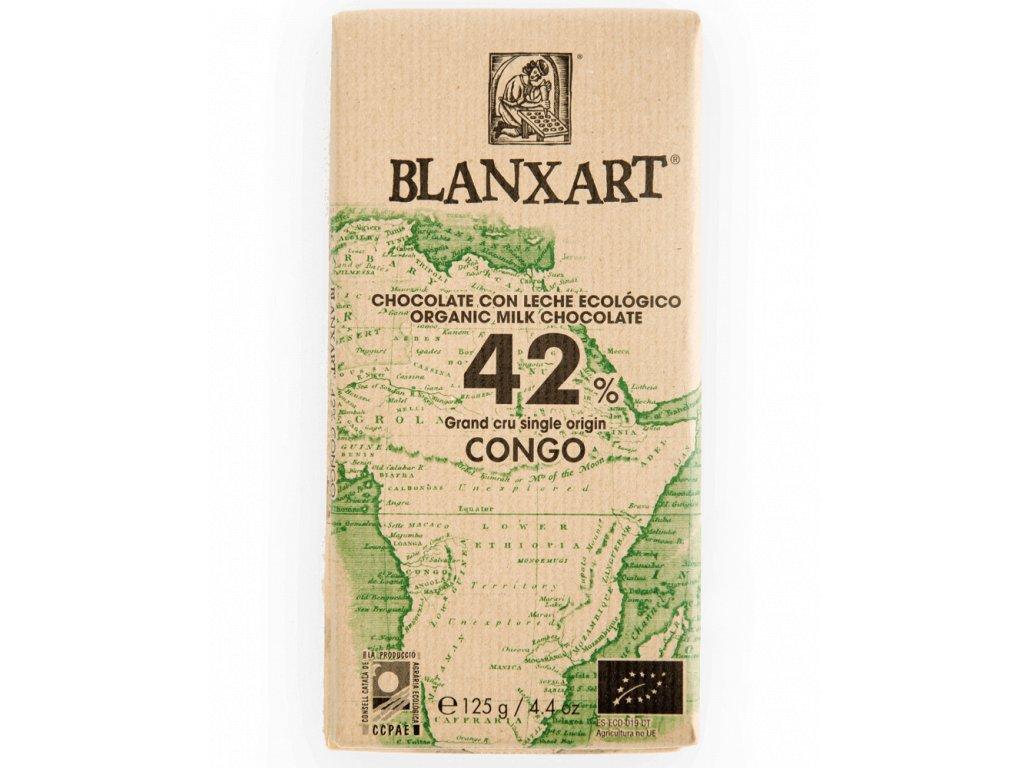 Blanxart Congo mléčná čokoláda 42% BIO