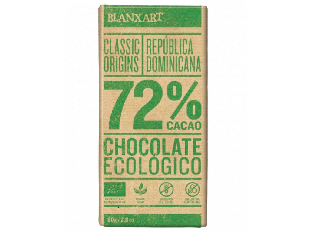 Blanxart Dominikánská Republika 72% BIO