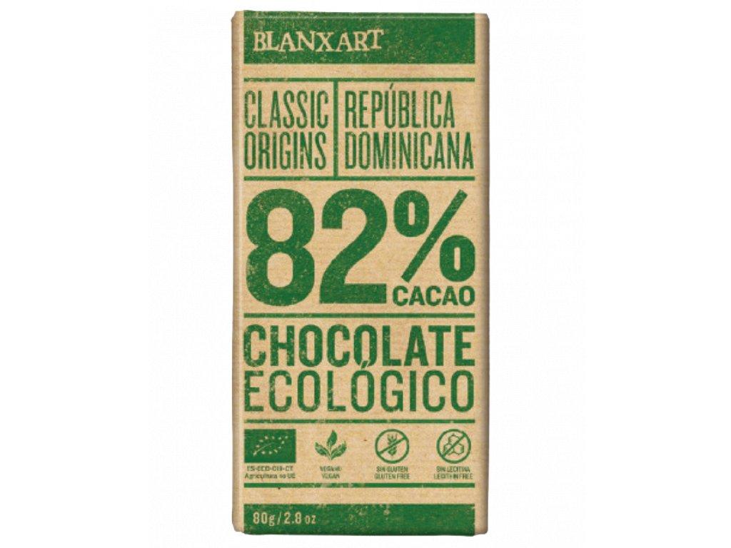 Blanxart Dominikánská Republika 82% BIO