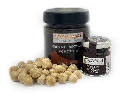Cremino - Čokoládovo oříškový krém s lískovými ořechy z Piemonte (Tmavá) 220g
