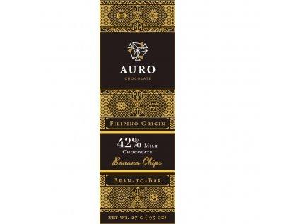 Auro Banana chips milk chocolate 42 27 gr front 800x800