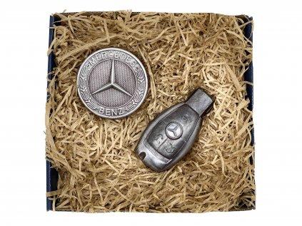 Mercedes - Čokoládová sada s klíčem