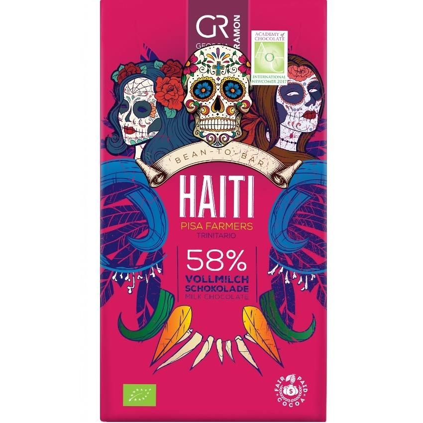 Levně Georgia Ramon Haïti Mléčná Čokoláda 58% BIO