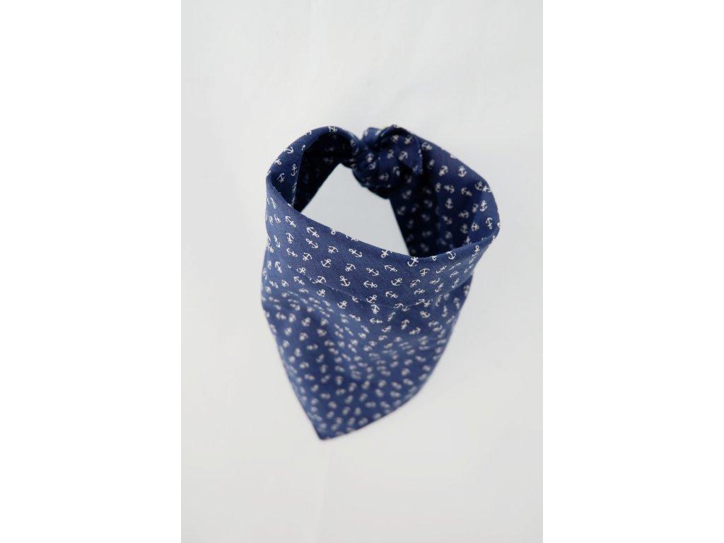 Šátek pro psa malé kotvičky