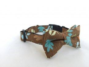 Obojek dubové lístky pro pejska + motýlek