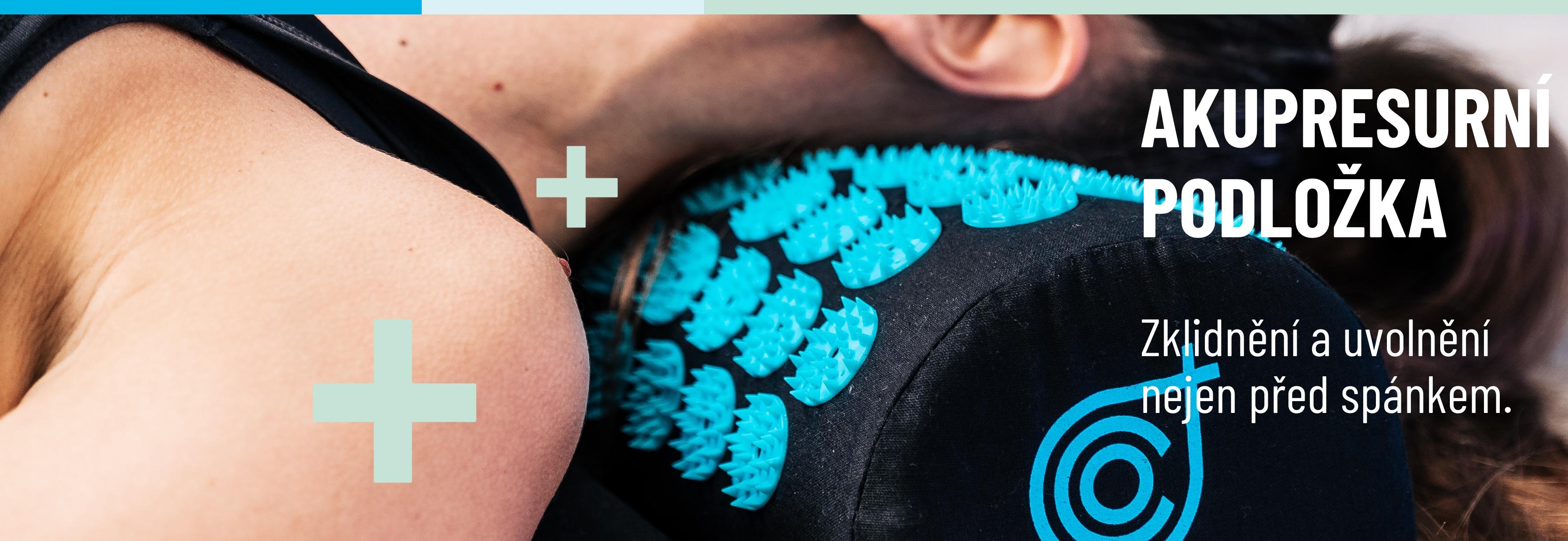 """Akupresurní podložka. Speciální podložku lze použít velmi dobře i pro masáž nohou, která je vhodná ráno, než na celý den vklouzneme do uzavřené obuvi.  Speciální polštář, který je součástí balení s podložkou příjemně """"masíruje"""" často ztuhlou šíji. Polštář"""