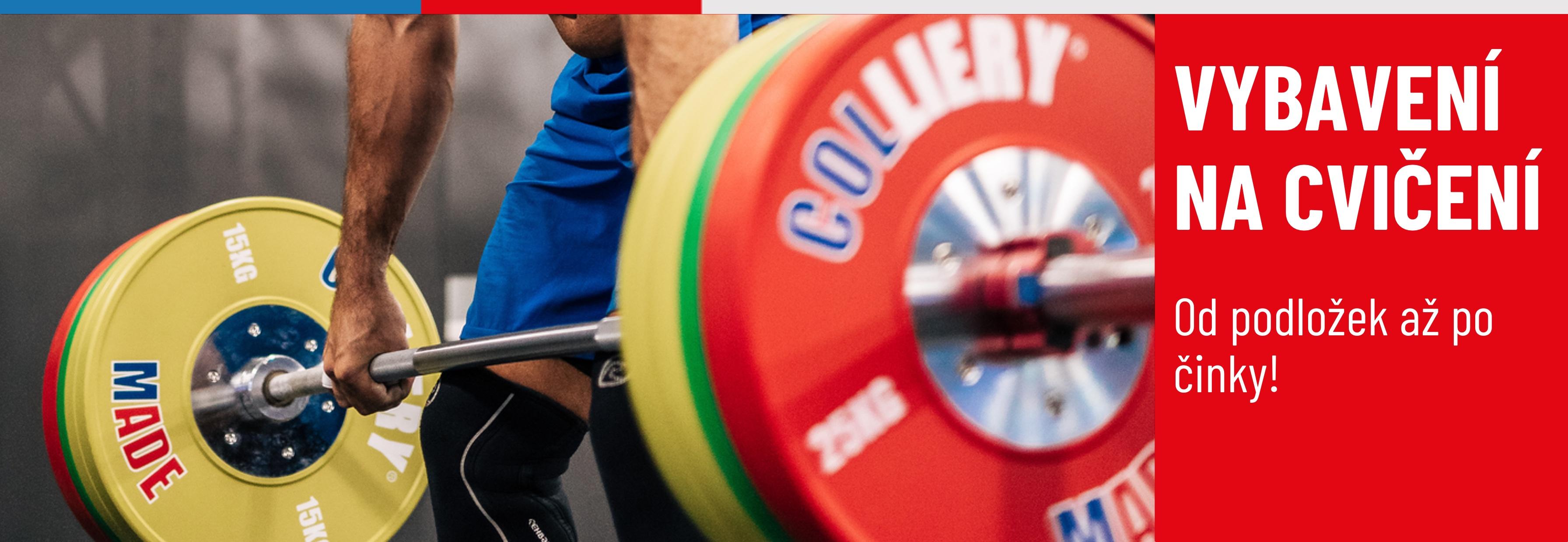 Vybavení na cvičení, činky, ktb, podložky, gymtimer a mnohem více!