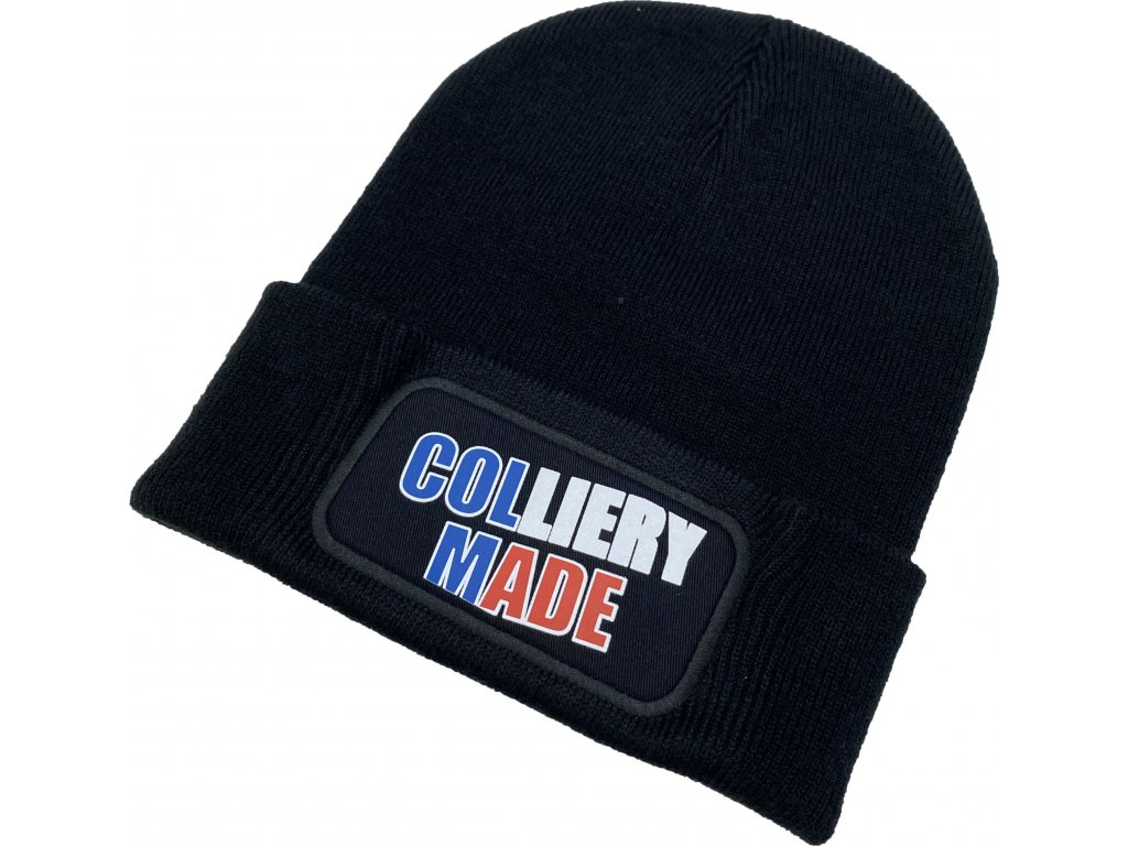 čepice černá CollieryMade Colliery Crossfit Ostrava Teplá čepice