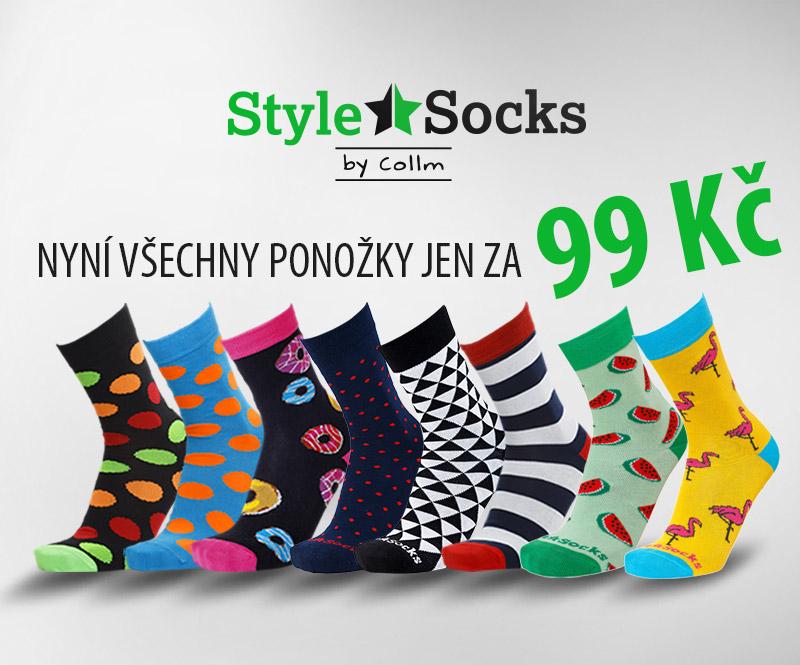 Barevné ponožky STYLE SOCKS nyní za super cenu.