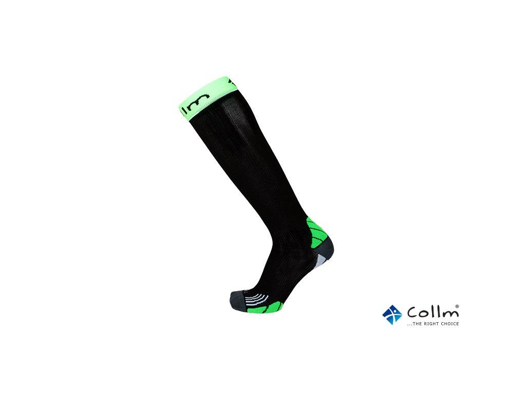 Kompresní podkolenky na běh černo-zelené - COLLM.CZ a9fe59ada3