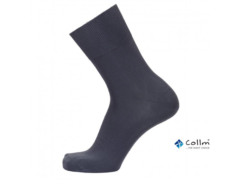 39e58592dda Ponožky se stříbrem BIO COTTON tmavě šedé - COLLM.CZ