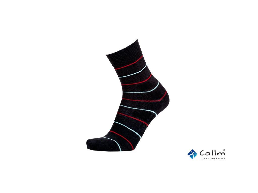 Společenské pruhované ponožky (Velikost S 4-5 (37-38))