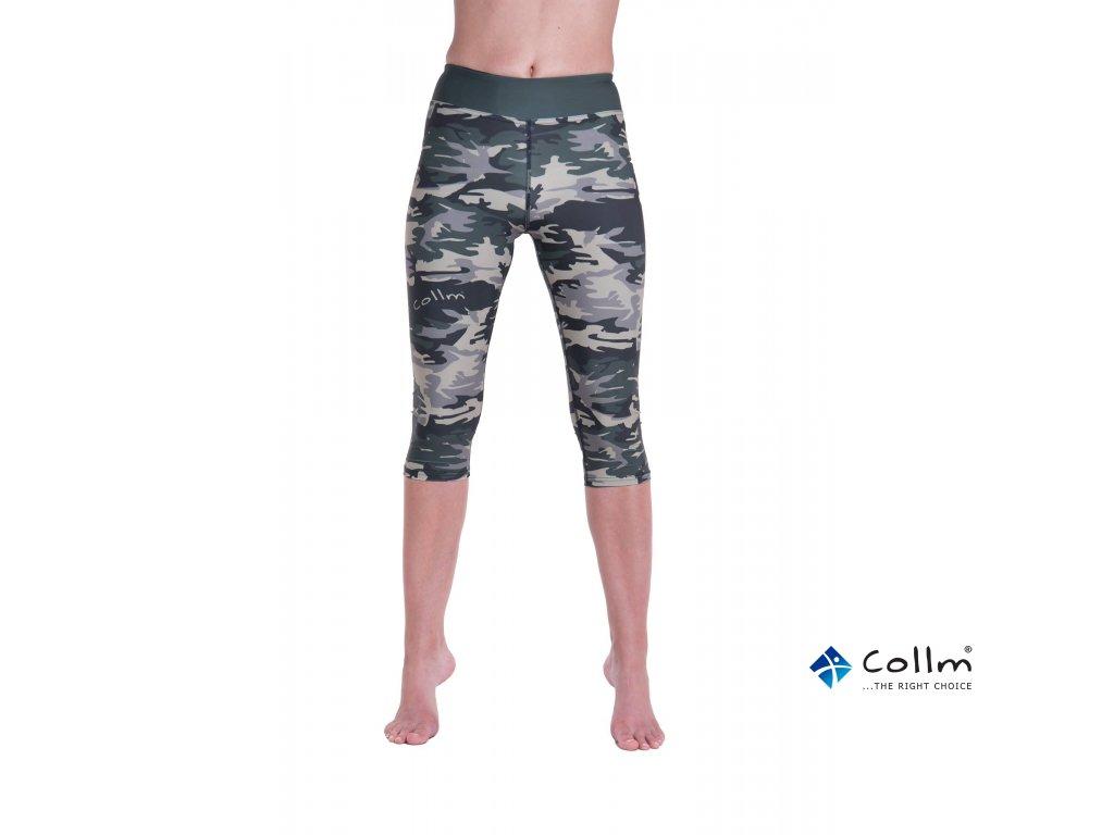 8ad9a8d31 Běžecké/fitness legíny COLLM - ARMY GREEN 3/4 délka - COLLM.CZ