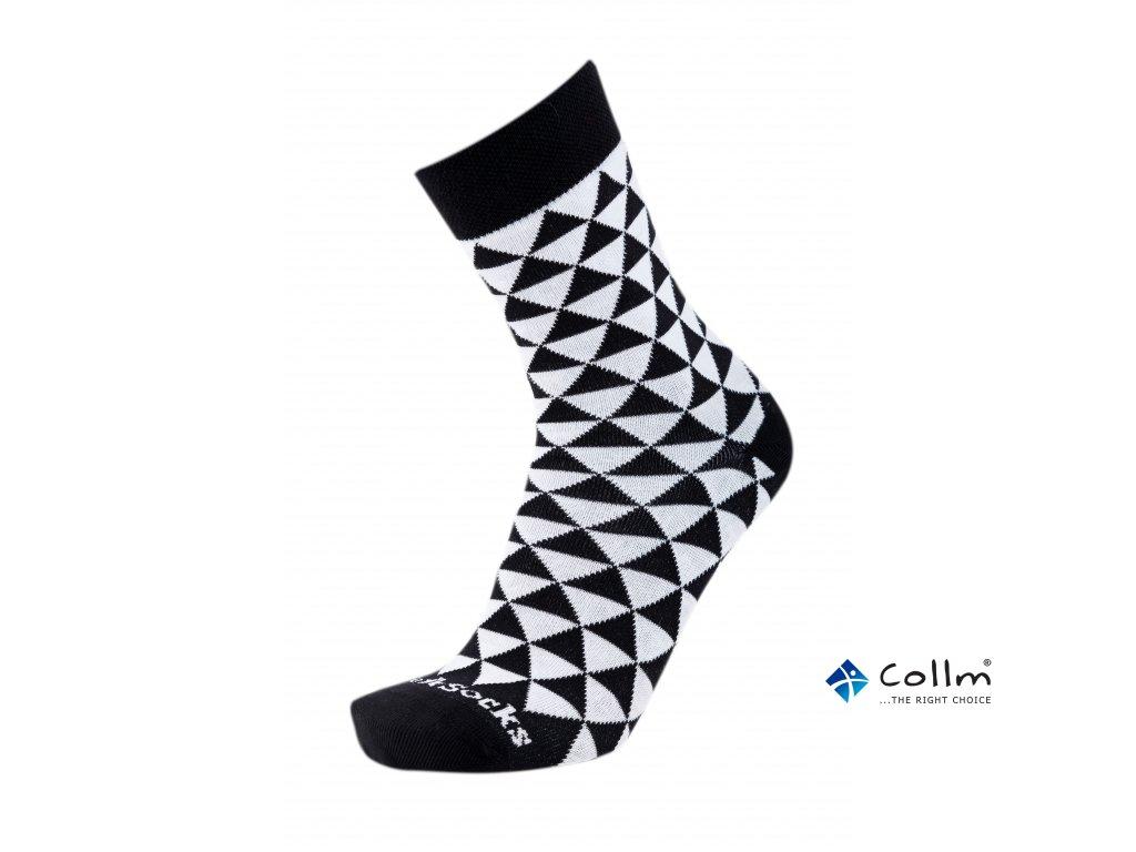 Barevné ponožky STYLE SOCKS trojúhelníky - COLLM.CZ 78893856eb