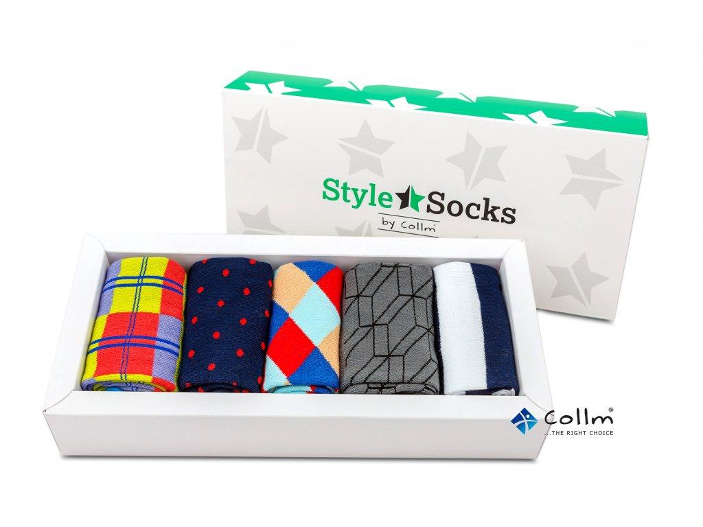 Dárkové balení ponožek Style Socks 5párů - COLLM.CZ 1b10fd1db7