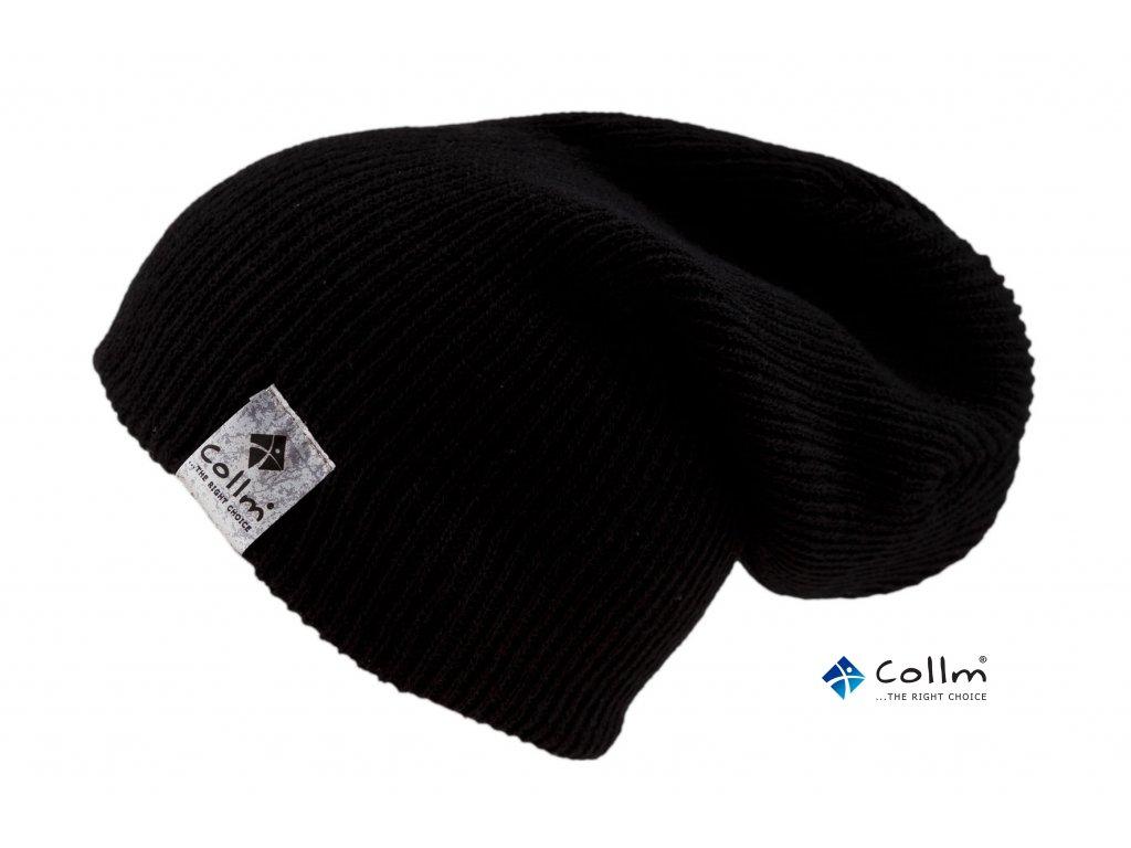 Pletená lehká čepice v černé barvě - COLLM.CZ ce82ab4a52