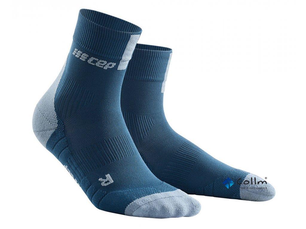 Krátké kompresní ponožky 3.0 modrá / šedá