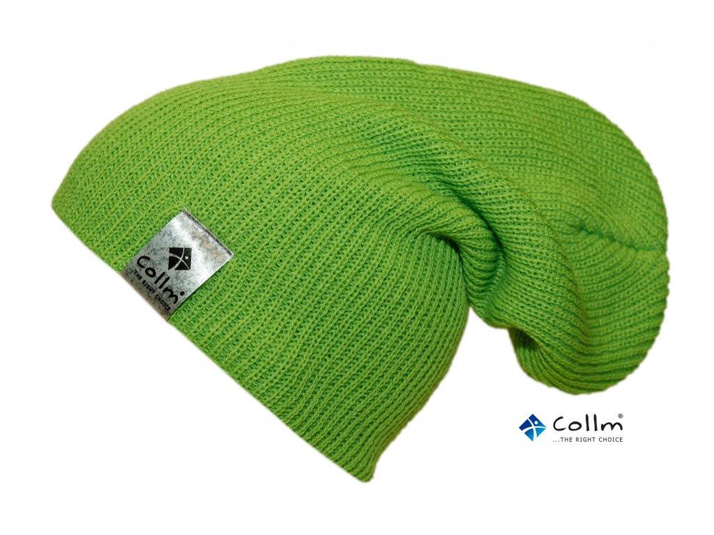 pletená čepice zelená collm