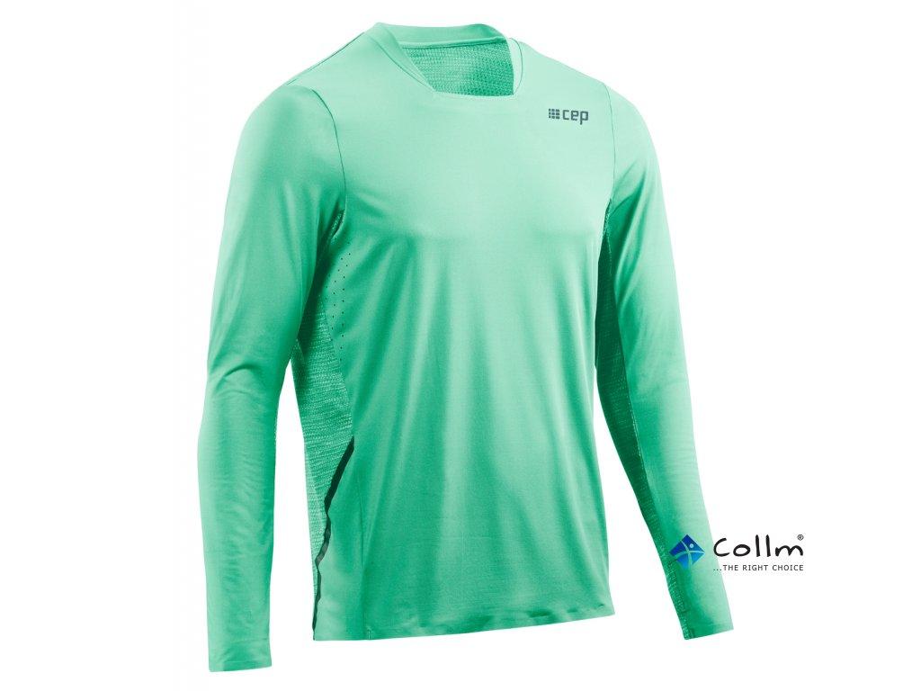 pánské sportovní triko s dlouhým rukávem zelené