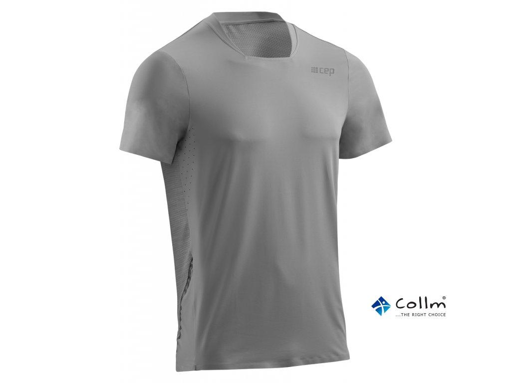 Běžecké tričko s krátkým rukávem šedá