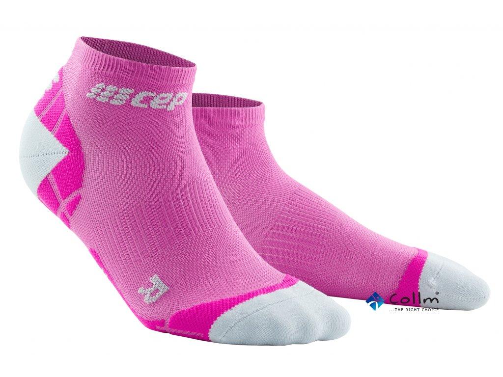 kompresní ponožky růžové