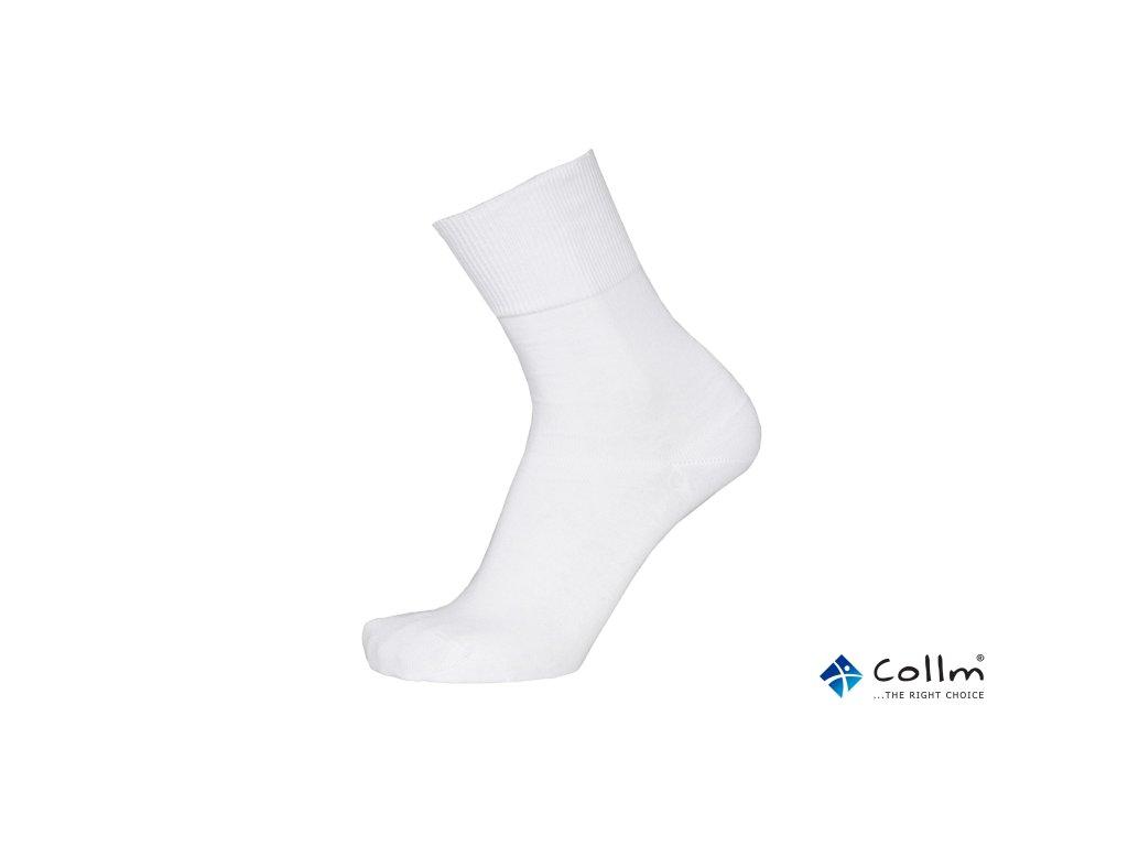 bílé zdravotní ponožky