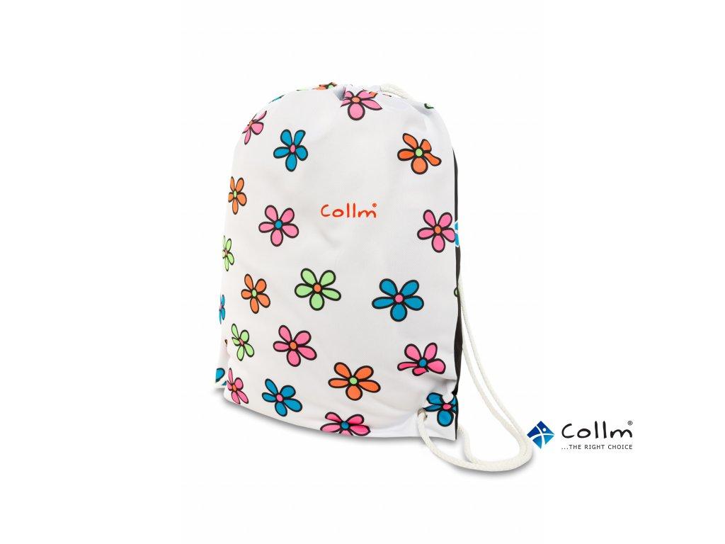 květovaný batoh na záda