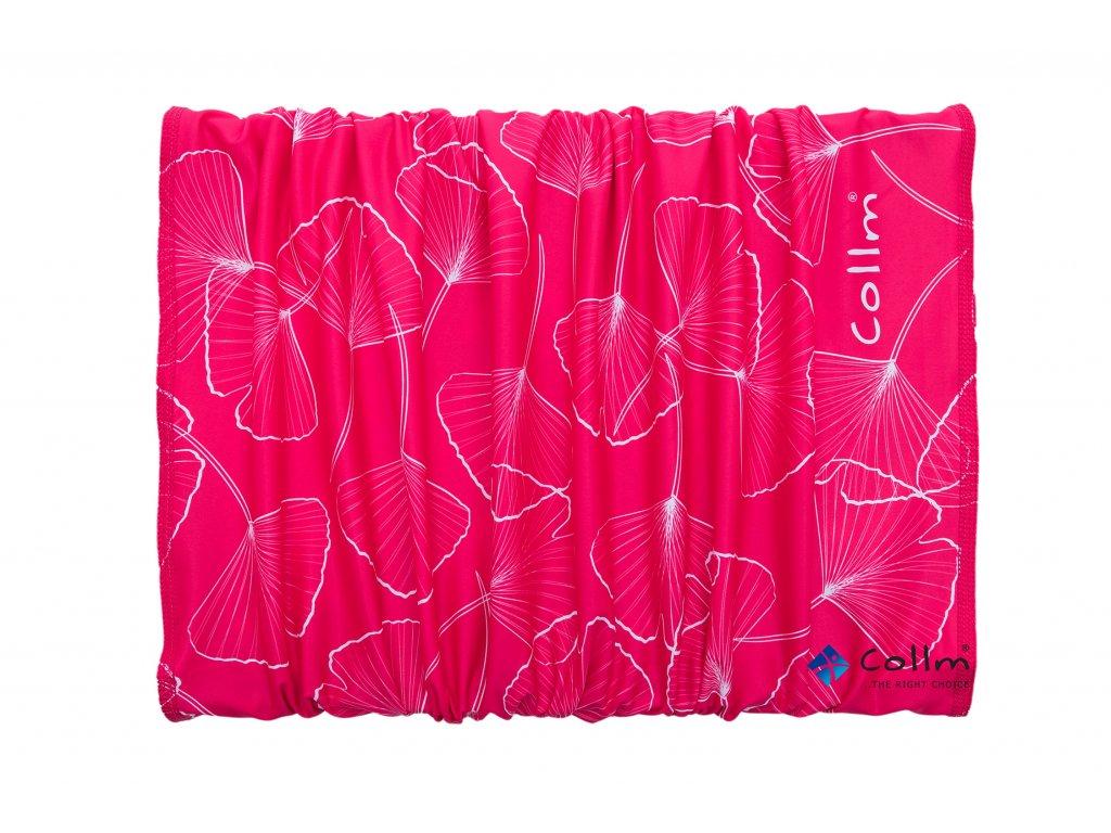 dámský sportovní šátek, nákrčník collm růžový