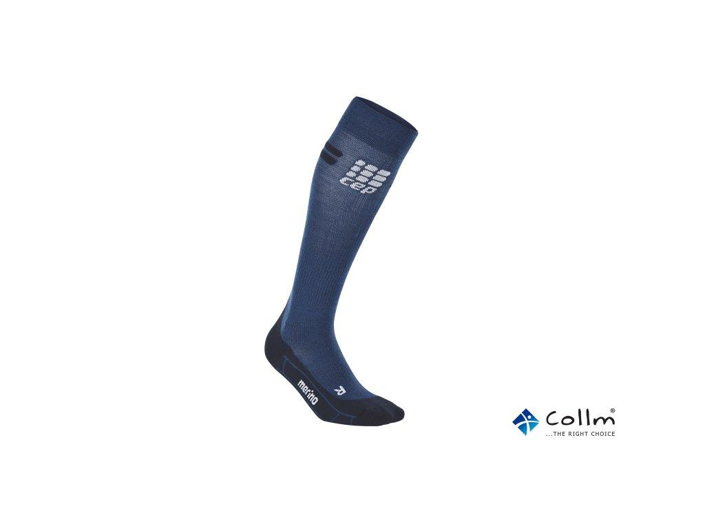 f0fea719e85 CEP kompresní podkolenky na běh MERINO modrá (Velikost II. Obvod lýtka 25 -  31