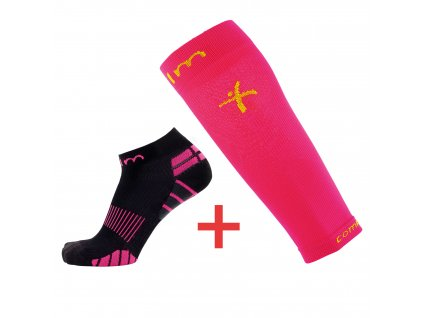kompresni ponozky ruzove navleky