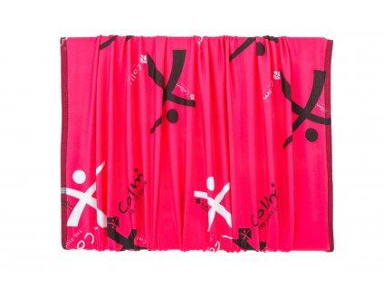 růžový šátek sportovní nákrčník