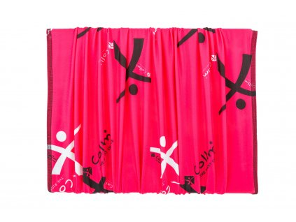 sportovní růžový šátek tubus