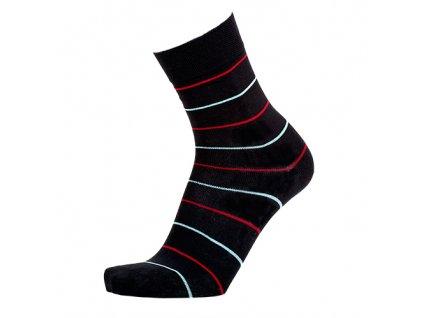 Společenské pruhované ponožky 3páry (Velikost S 4-5 (37-38))