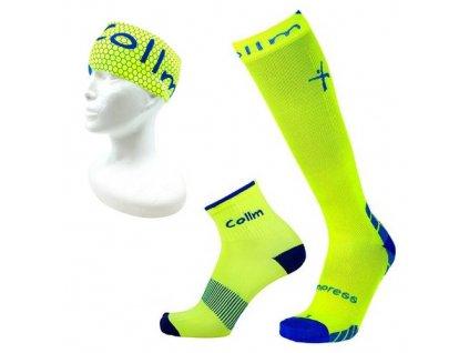 kompresní podkolenky, sportovní ponožky i čelenka na běhání