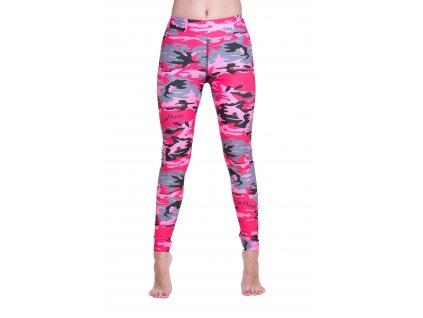 sportovní růžové legíny na běhání