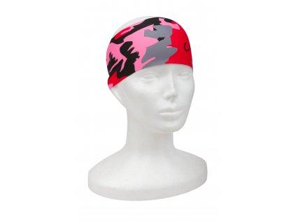 dámská sportovní čelenka na běh růžová