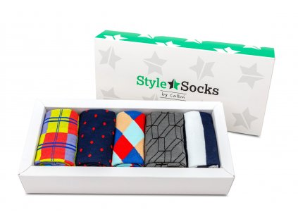 barevné ponožky do obleku dárkové balení