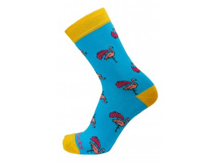 barevné ponožky s plameňákem