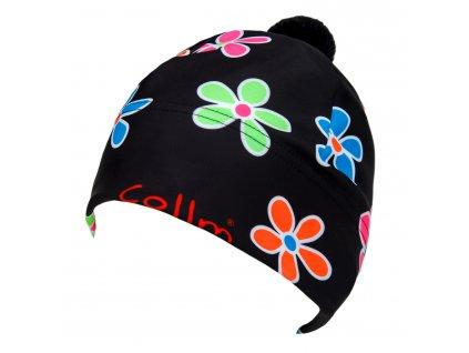 dámská sportovní čepice s květy