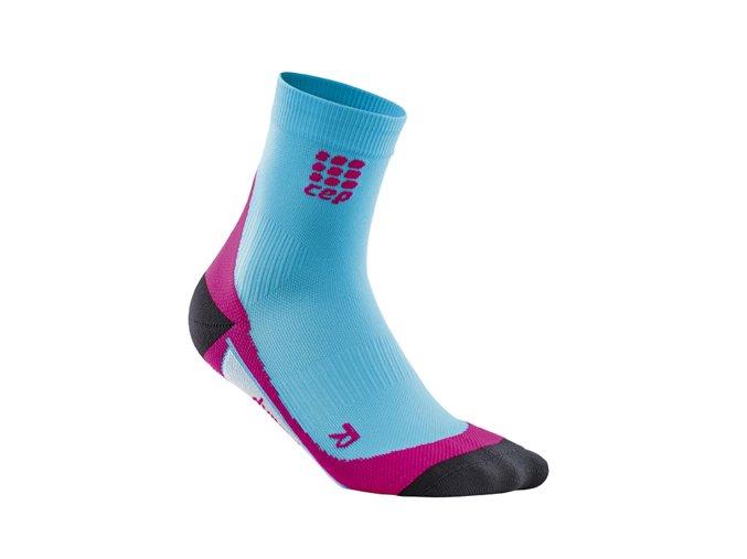 Kompresní ponožky CEP dámské, havajská modř/růžová (Velikost Velikost II. - Obvod přes kotník 18 - 20 cm)