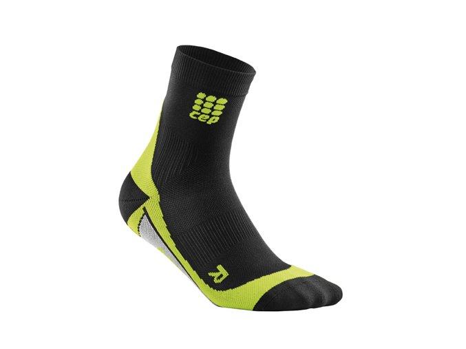 Kompresní ponožky CEP pánské, černá/zelená (Velikost Velikost II. - Obvod přes kotník 18 - 20 cm)