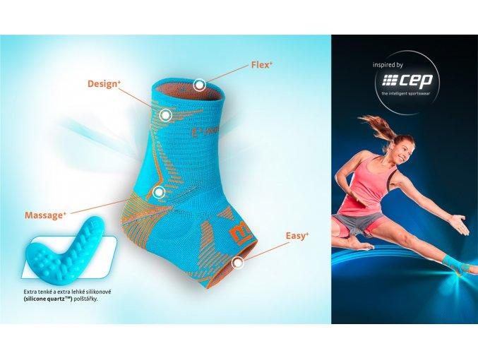 Levamed E+motion  - sportovní kotníková bandáž (Velikost I.)