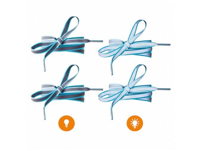 Reflexní tkaničky do bot modré